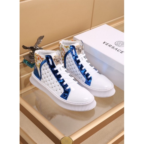 Versace High Tops Shoes For Men #819029
