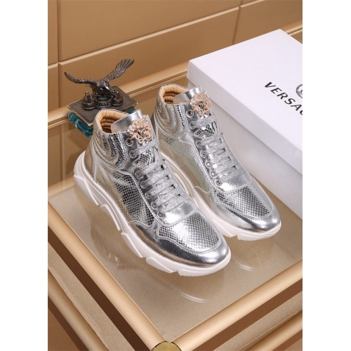 Versace High Tops Shoes For Men #819030