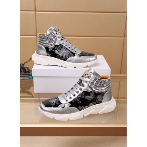 Versace High Tops Shoes For Men #819033