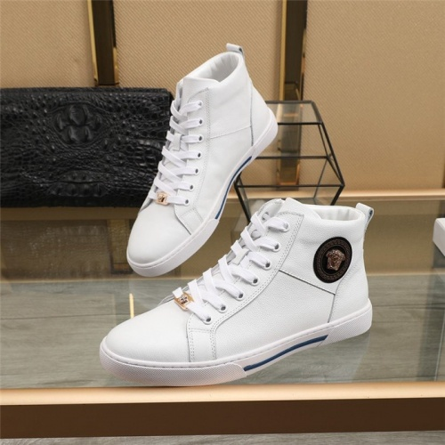 Versace High Tops Shoes For Men #819075