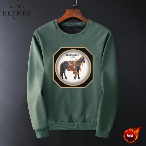 Hermes Hoodies Long Sleeved O-Neck For Men #819236