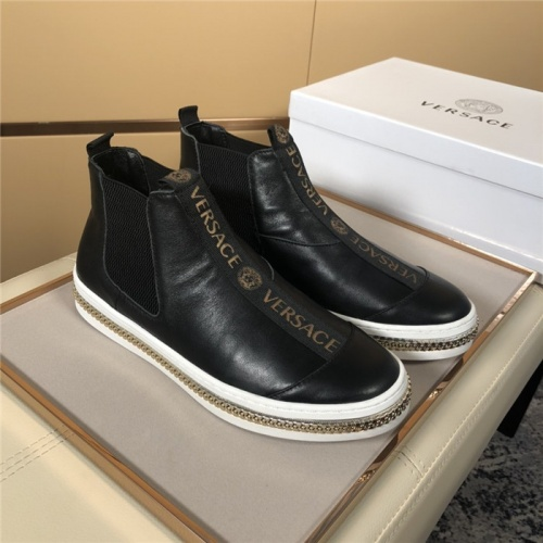 Versace High Tops Shoes For Men #819369