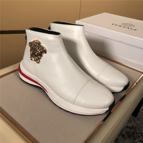 Versace High Tops Shoes For Men #819371