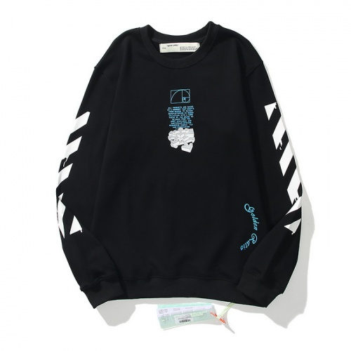 Replica Off-White Hoodies Long Sleeved O-Neck For Men #819656 $45.00 USD for Wholesale
