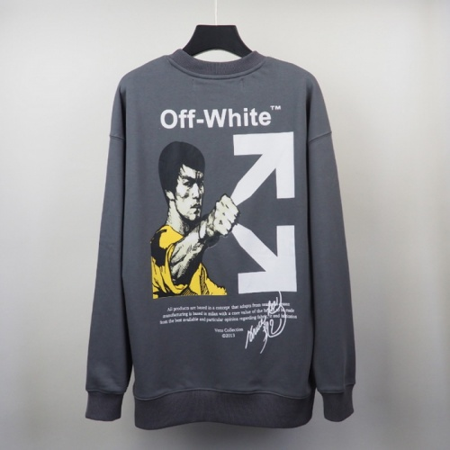 Off-White Hoodies Long Sleeved O-Neck For Men #819734 $39.00 USD, Wholesale Replica Off-White Hoodies