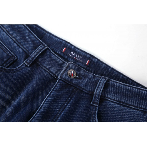 Replica Thom Browne TB Jeans Trousers For Men #819818 $42.00 USD for Wholesale
