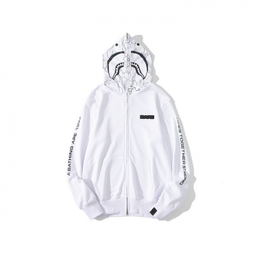 Bape Hoodies Long Sleeved Zipper For Men #819856