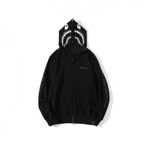Bape Hoodies Long Sleeved Zipper For Men #819857 $48.00 USD, Wholesale Replica Bape Hoodies