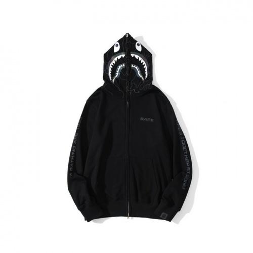 Bape Hoodies Long Sleeved Zipper For Men #819857