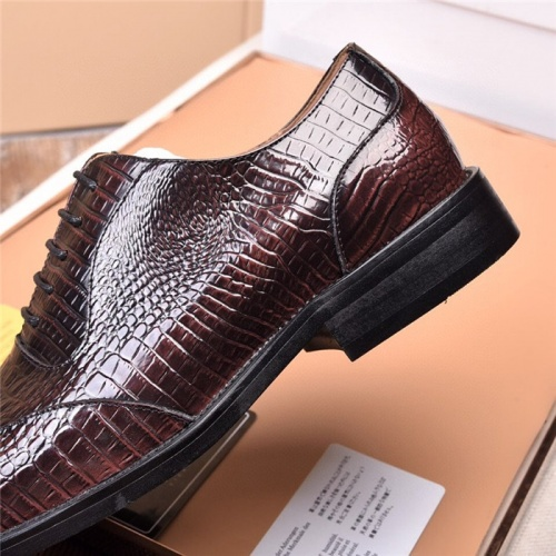Replica Versace Leather Shoes For Men #820042 $105.00 USD for Wholesale