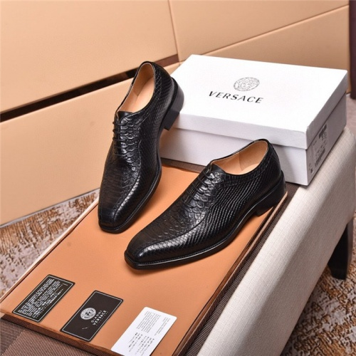 Replica Versace Leather Shoes For Men #820043 $105.00 USD for Wholesale