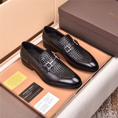 Bottega Veneta BV Leather Shoes For Men #820053
