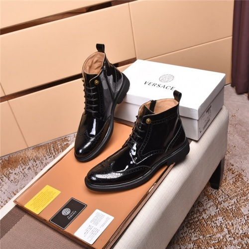 Replica Versace Boots For Men #820058 $122.00 USD for Wholesale
