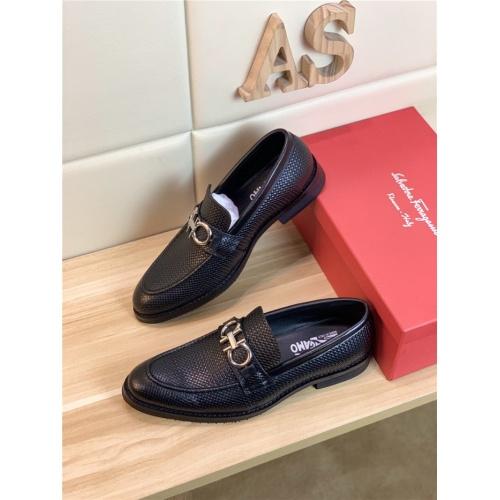 Ferragamo Salvatore FS Leather Shoes For Men #820077