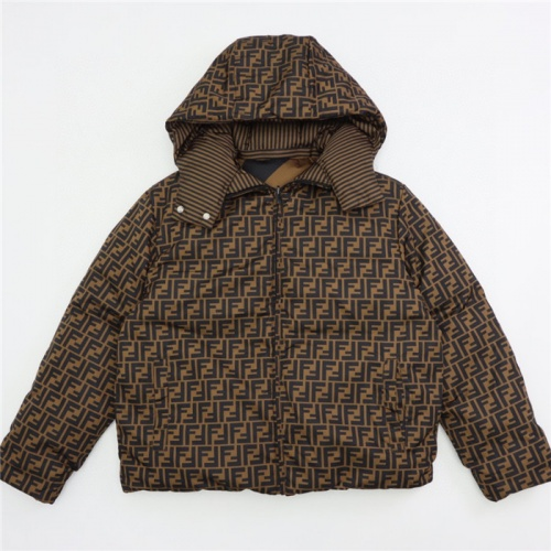 Fendi Down Feather Coat Long Sleeved Zipper For Unisex #820191