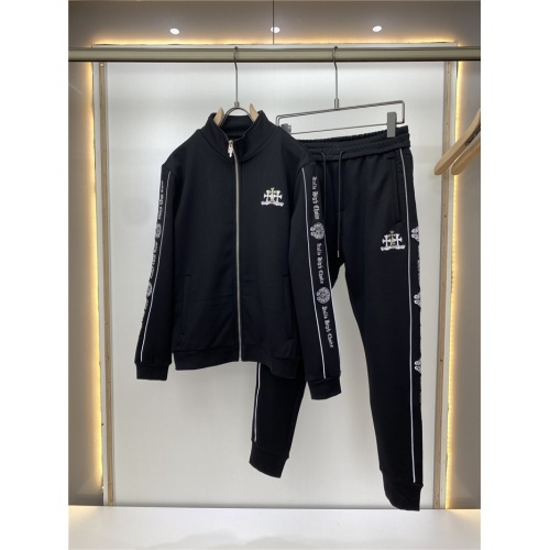 Chrome Hearts Tracksuits Long Sleeved Zipper For Men #820211