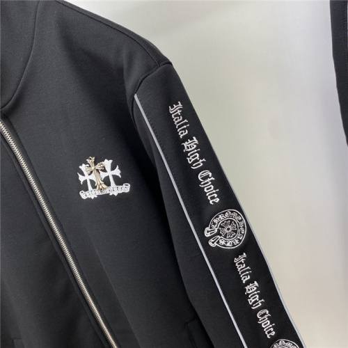 Replica Chrome Hearts Tracksuits Long Sleeved Zipper For Men #820211 $109.00 USD for Wholesale