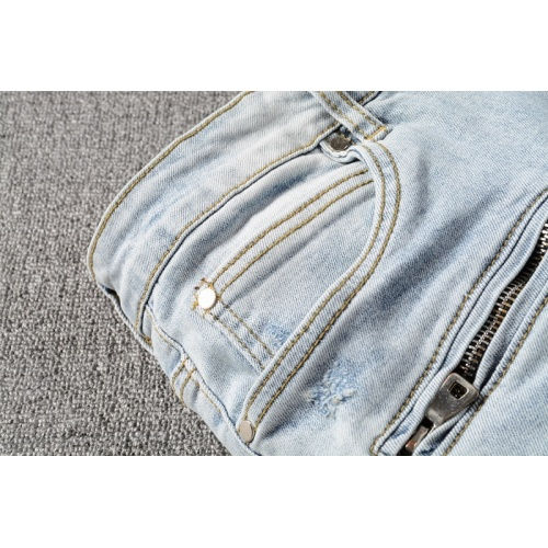 Replica Balmain Jeans Trousers For Men #820234 $65.00 USD for Wholesale