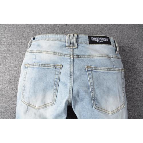 Replica Balmain Jeans Trousers For Men #820234 $65.00 USD for Wholesale