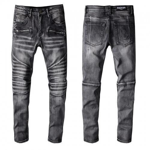 Balmain Jeans Trousers For Men #820236 $65.00 USD, Wholesale Replica Balmain Jeans