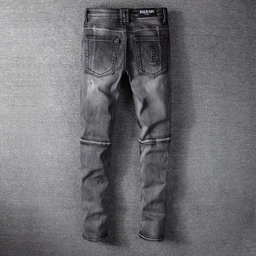 Replica Balmain Jeans Trousers For Men #820236 $65.00 USD for Wholesale