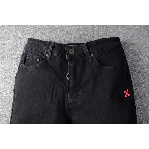 Replica Off-White Jeans Trousers For Men #820240 $65.00 USD for Wholesale