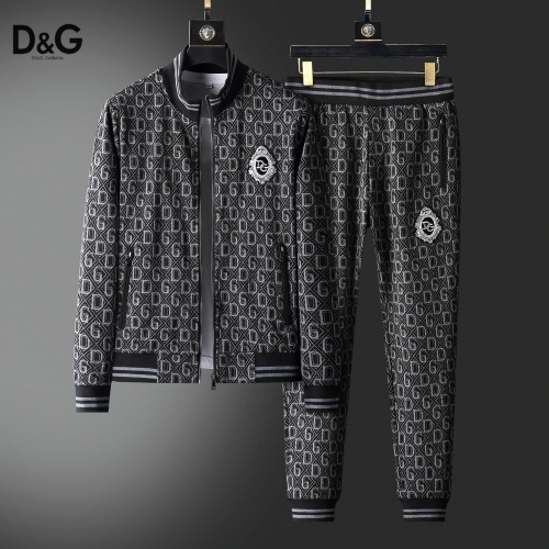 Dolce & Gabbana D&G Tracksuits Long Sleeved Zipper For Men #820329