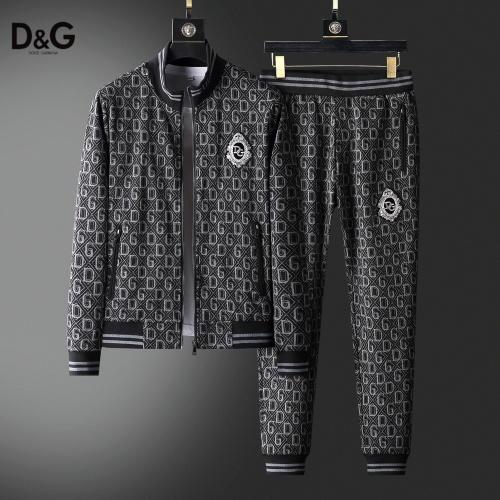 Dolce & Gabbana D&G Tracksuits Long Sleeved Zipper For Men #820329