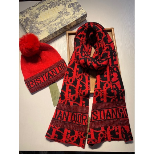 Replica Christian Dior Scarf & Hat Set #820544 $64.00 USD for Wholesale