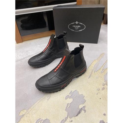 Replica Prada Boots For Men #820672 $80.00 USD for Wholesale