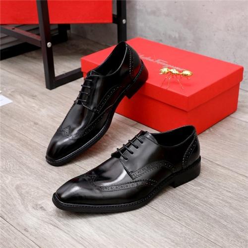 Ferragamo Salvatore FS Leather Shoes For Men #820695