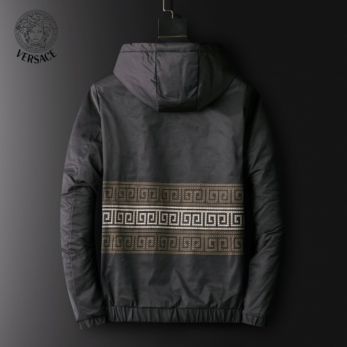 Replica Versace Down Coat Long Sleeved Zipper For Men #820790 $72.00 USD for Wholesale