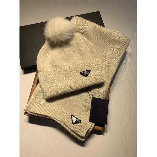 Prada Scarf & Hat Set #820792