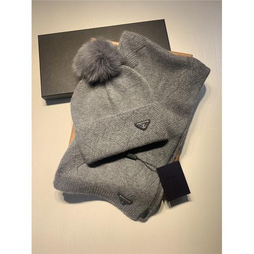 Prada Scarf & Hat Set #820795