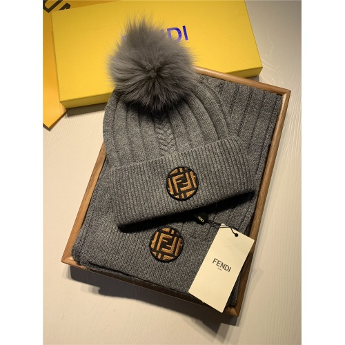 Fendi Scarf & Hat Set #820799
