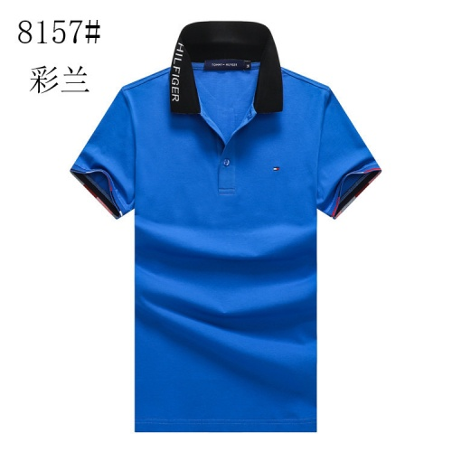 Tommy Hilfiger TH T-Shirts Short Sleeved Polo For Men #820892 $24.00 USD, Wholesale Replica Tommy Hilfiger TH T-Shirts