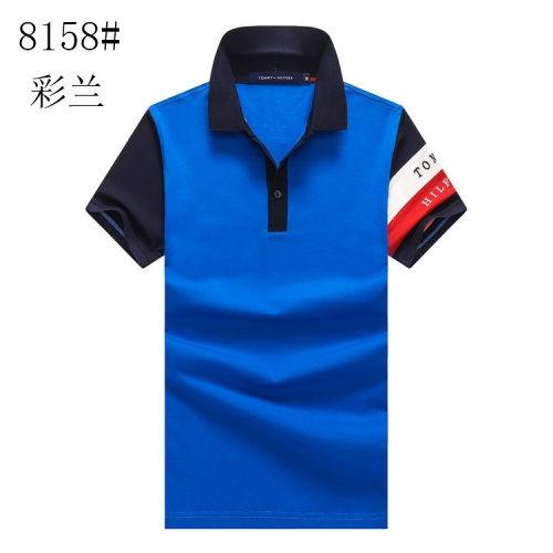Tommy Hilfiger TH T-Shirts Short Sleeved Polo For Men #820896 $24.00 USD, Wholesale Replica Tommy Hilfiger TH T-Shirts