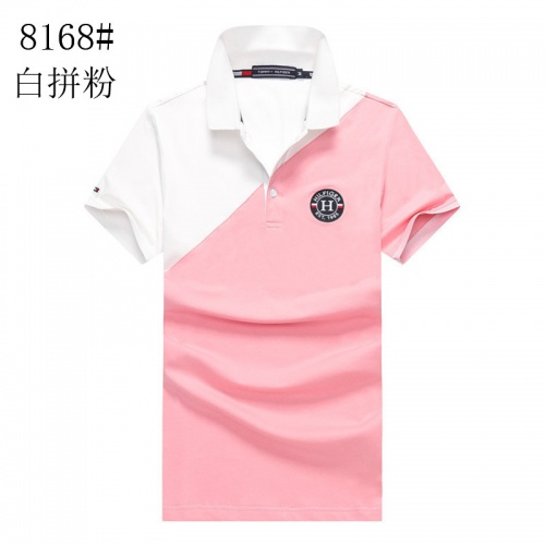 Tommy Hilfiger TH T-Shirts Short Sleeved Polo For Men #820922 $24.00 USD, Wholesale Replica Tommy Hilfiger TH T-Shirts