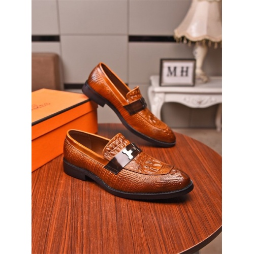 Hermes Leather Shoes For Men #821086