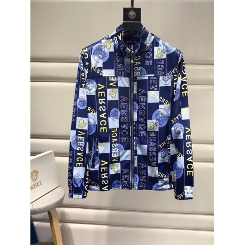 Replica Versace Tracksuits Long Sleeved Zipper For Men #821208 $85.00 USD for Wholesale