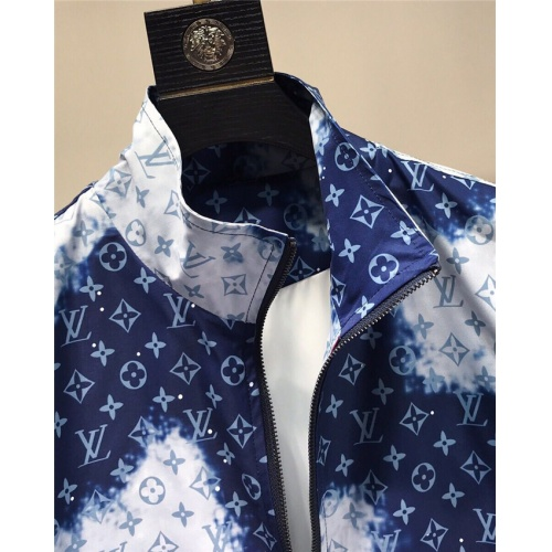 Replica Versace Tracksuits Long Sleeved Zipper For Men #821210 $85.00 USD for Wholesale