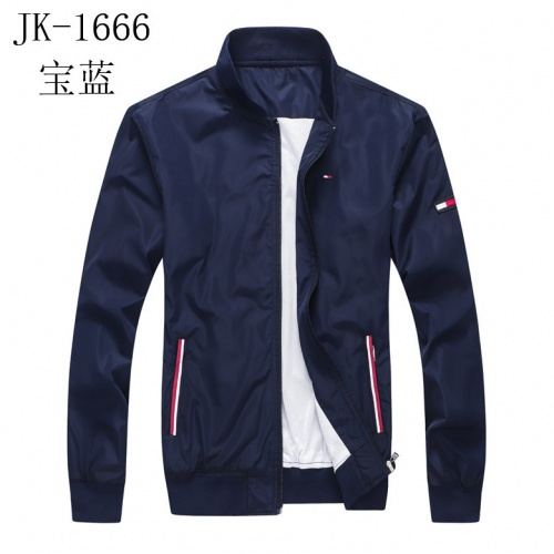 Tommy Hilfiger TH Jackets Long Sleeved Zipper For Men #821284