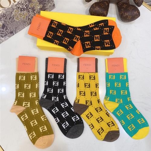 Fendi Socks #821394 $28.00, Wholesale Replica Fendi Socks