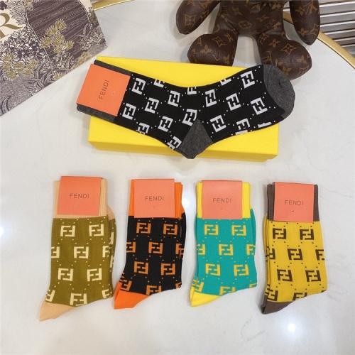 Replica Fendi Socks #821394 $28.00 USD for Wholesale