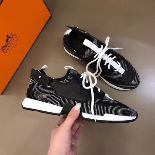 Replica Hermes Casual Shoes For Men #821418 $92.00 USD for Wholesale