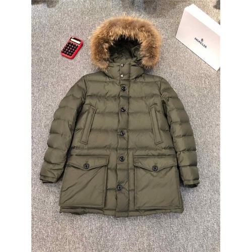 Moncler Down Feather Coat Long Sleeved Zipper For Men #821576