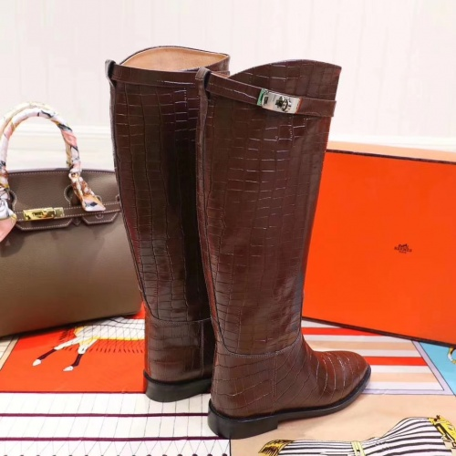 Replica Hermes Boots For Women #821603 $115.00 USD for Wholesale