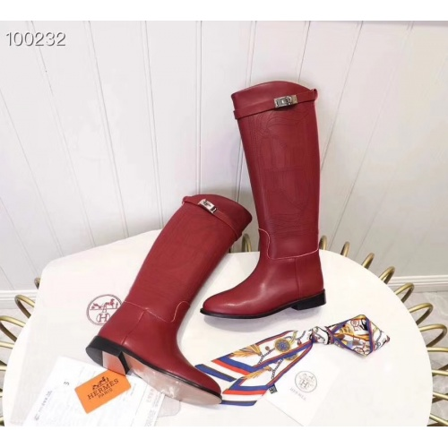 Replica Hermes Boots For Women #821610 $115.00 USD for Wholesale