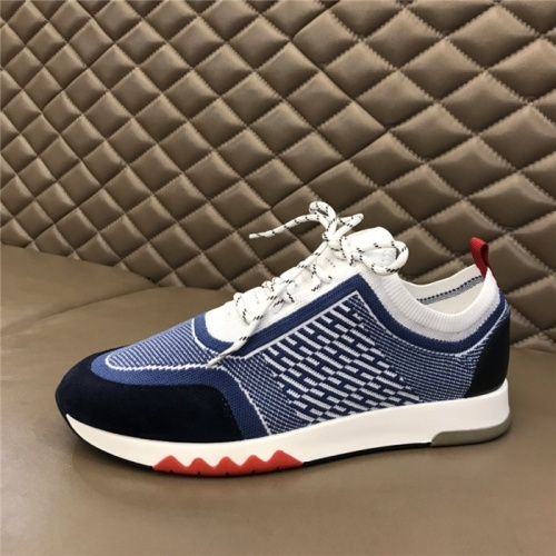 Replica Hermes Casual Shoes For Men #821689 $88.00 USD for Wholesale