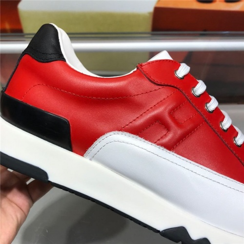 Replica Hermes Casual Shoes For Men #821692 $88.00 USD for Wholesale